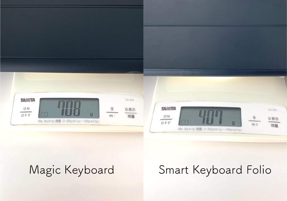 カバーの重さ比較